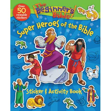 The Beginner's Bible Super Heroes of the Bible Sticker and Activity Book - Halloween Bible School Activities