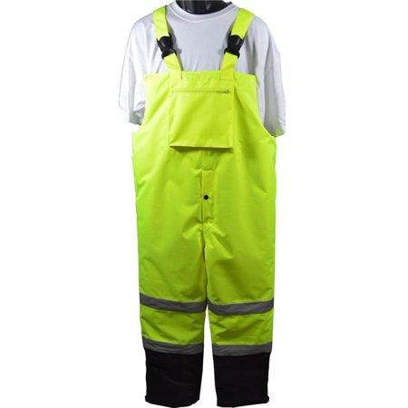 - petra roc lqbbip-ce-2x ansi-isea 107-2015 class e waterproof quilted thermal bib rain pants, 2x