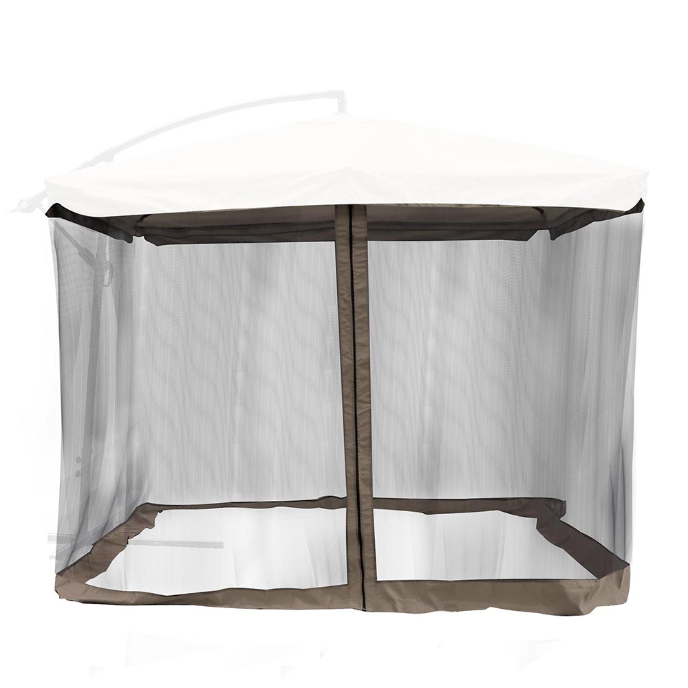 Yescom 9Ft Umbrella Mosquito Net Outdoor Patio Mesh Screen Anti Insect Fly  Tent Chocolate Chip Edge