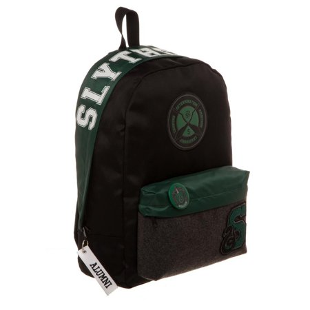 713194d298 Harry Potter Licensed Slytherin House Varsity Patches Backpack School Book  Bag - image 1 of 1 ...
