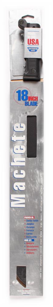 "Ontario 1-18"" 6144 Carbon Steel Military Machete 18"" Fixed Blade Plain Edge by Ontario Knife Company"