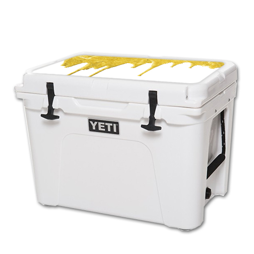 MightySkins Protective Vinyl Skin Decal for YETI Tundra 50 qt Cooler Lid wrap cover sticker skins Gold Drip