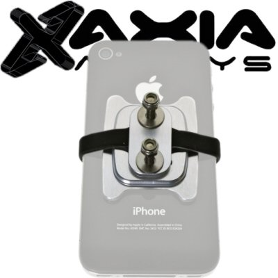Axia Alloys Bolt On Silver Adjustable Universal Mount For Hand Held Gps  Iphone  Or Ipod