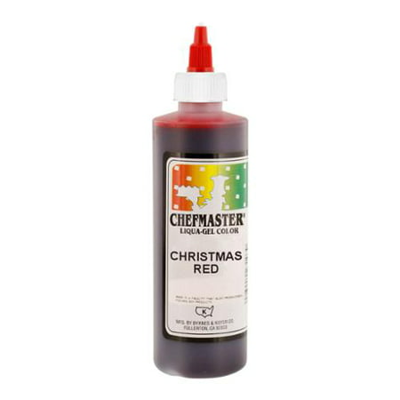 Chefmaster by US Cake Supply 10.5oz Christmas Red Liqua-Gel Cake Food Coloring ()