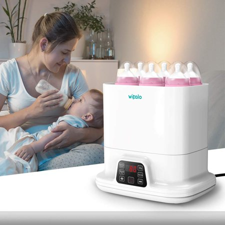 Bottle Steam Sterilizer,3 in 1 Single Baby Bottle Warmer with Evenly Warming Breast Milk or Formula, Accurate Temperature (Best Baby Bottle Warmer Reviews)
