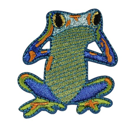 Hear No Evil Frogs - ID 0002 Frog Hear No Evil Embroidered Iron On Applique Patch