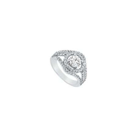 (Fine Jewelry Vault UBJ8484PTD-101RS5 Diamond Engagement Ring Platinum, 1.25 CT - Size 5)