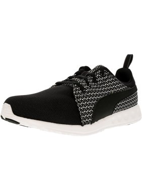 huge discount 34118 c1b27 Product Image Puma Women s Carson Runner Knit Black Star White Ankle-High Running  Shoe - 9.5