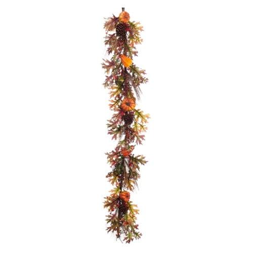Silk Flower Depot Pumpkin/Berry/Pine Cone Fall Garland