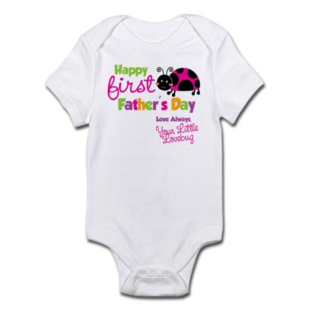 Ladybug 1St Fathers Day Infant Bodysuit - Baby Light Bodysuit
