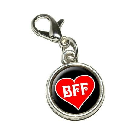 BFF - Best Friends Forever - Red Heart Bracelet Charm