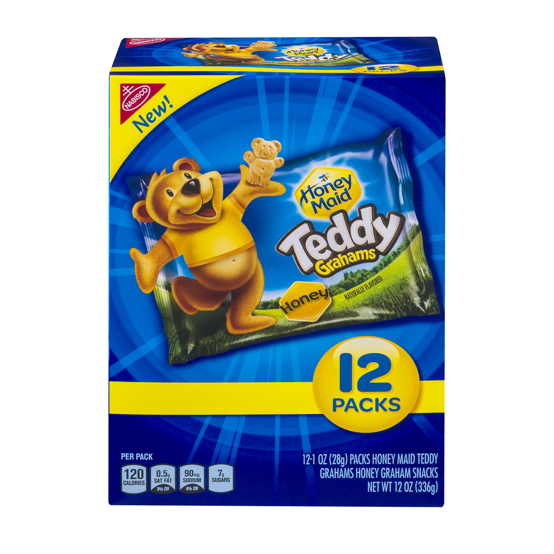 Nabisco Teddy Grahams Honey Graham Snacks 12-1 oz. Packs