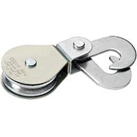DEUER DB-20HS Swivel Eye Scissor Hook Block, 480 lb Weight Capacity, 1/4 in Rope