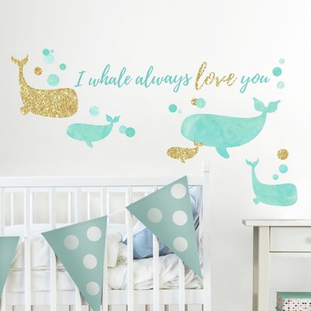 Harriet Bee Goncalves I Whale Always Love You Peel and Stick Wall Decal (I Whaley Love You)