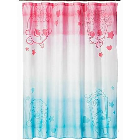 Shopkins Shower Curtain Blue And Pink Kids Bath Decor