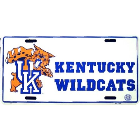 Kentucky Wildcats W/UK Cat Logo embossed metal auto - Kentucky Wildcats Logo