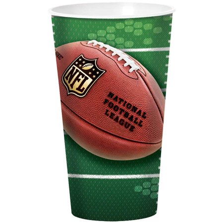 Plastic Football Cups (DesignWare NFL Football Field Party Gobelet 32oz Plastic Cup, Green)