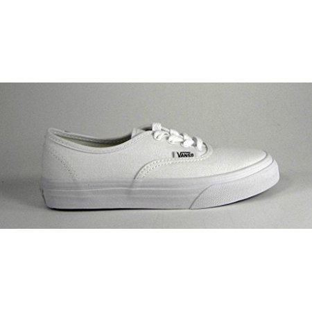 Vans Authentic Youth Round Toe Canvas White Sneakers for $<!---->