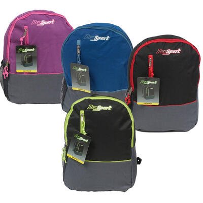 New 214710  Backpack 16 Pro Sport 4Assorted Clr (24-Pack) Cheap Wholesale Discount Bulk Backpack  Bags & Luggage. Cup](Cheap Sports)