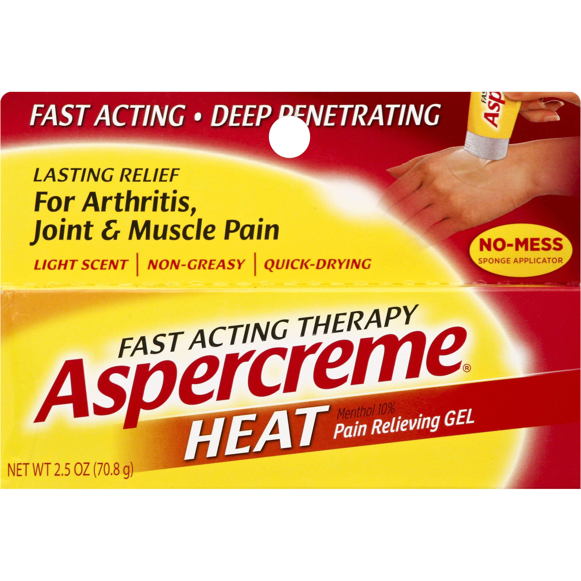 Aspercreme Heat Fast Acting Therapy Pain Relieving Gel, 2.5 oz