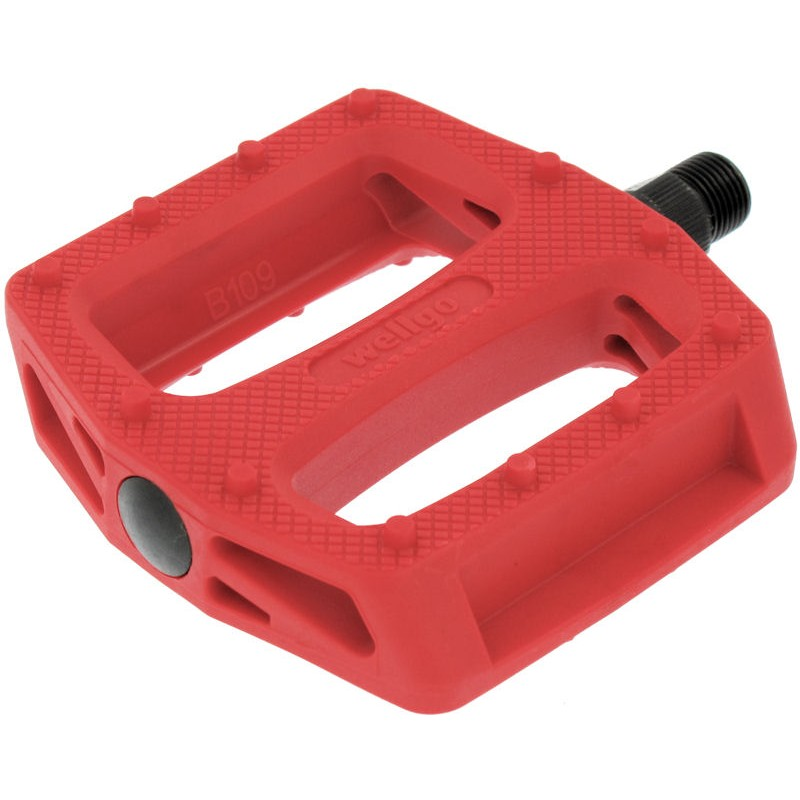 "Wellgo B109N Resin Bmx Pedals 9/16"" Solid Red"