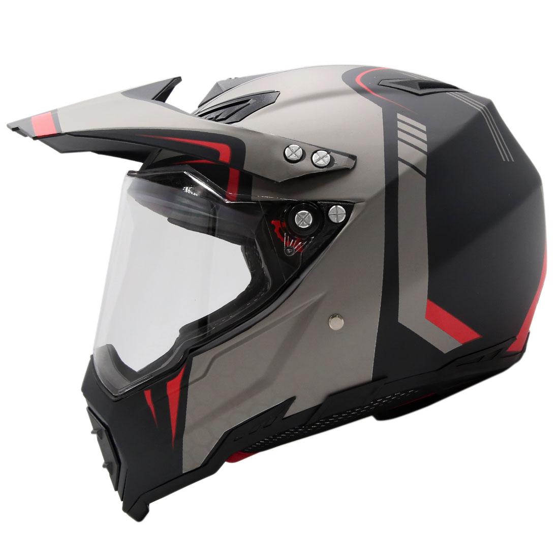 Unisex-Adult Dirtbike Off-Road ATV Motocross Motorcycle Helmet Flip Up Visor