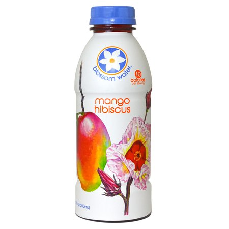 Blossom Water: All-Natural Essence Waters - Mango Hibiscus (16.9 (0.5 Ounce Water)