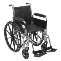 42 in. Wheelchair with Swing Away Footrests (42 in. L x 28 in. W x 36 in. H (44 lbs.))