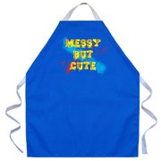 Attitude Aprons by L.A. Imprints Messy But Cute Apron in Royal