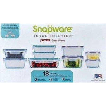 Snapware 18-piece Pyrex Glass Food Storage Set (Purple & (Snapware Pyrex 18 Piece Glass Storage Set)