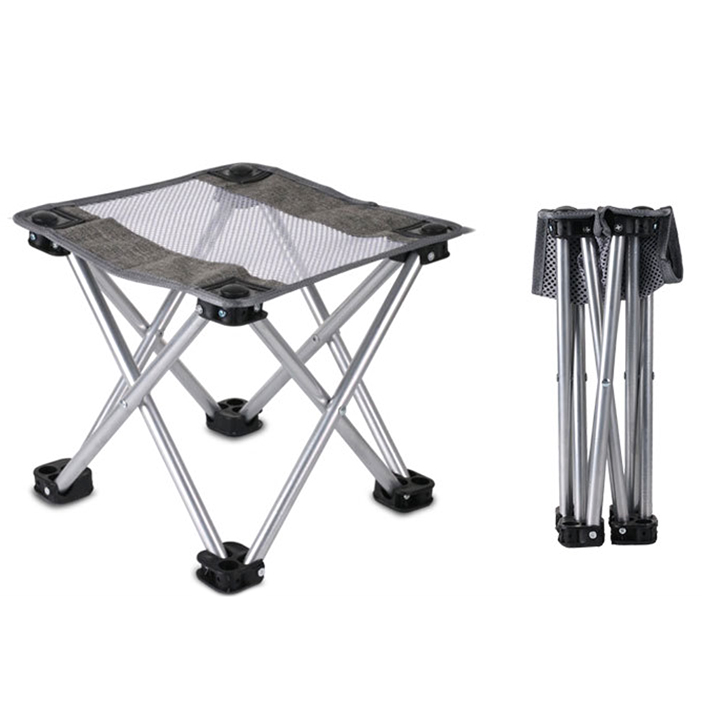 Details about  /Set of 2 Sturdy Folding Tourist Steel Stool for Camping Hiking