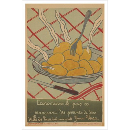 - Save Bread Eat Potatoes French Propaganda Poster 1916 Prized Colorful 24X36