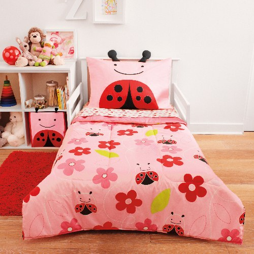 Zoo Toddler 4 Piece Bedding Set - Ladybug