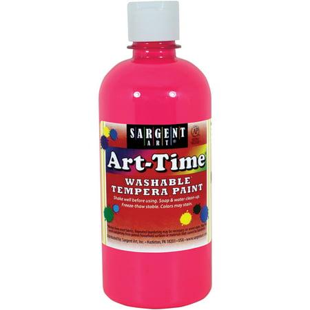 Sargent Art Tempera Neon Pink Paint, 16 Oz, 1 Each - Blacklight Neon Paint