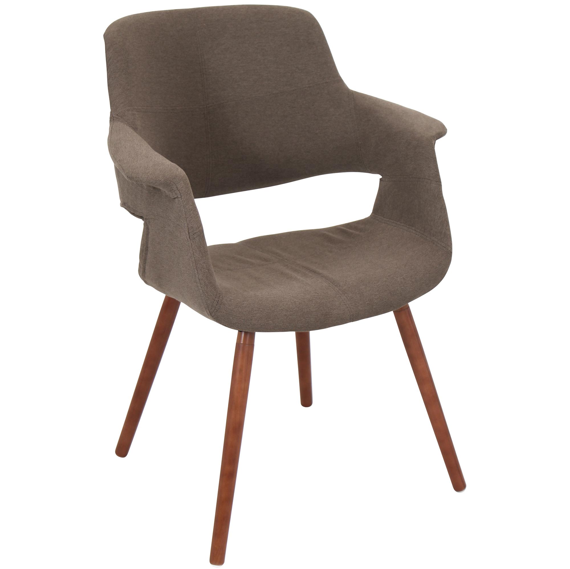 Vintage Flair Mid-Century Modern Chair in Medium Brown by LumiSource