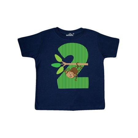 2nd Birthday Jungle Monkey Childs Toddler T Shirt
