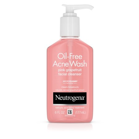 Neutrogena Oil-Free Pink Grapefruit Acne Facial Cleanser, 6 fl.