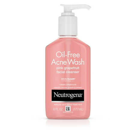 Neutrogena Oil-Free Pink Grapefruit Acne Facial Cleanser, 6 fl. (Best Cleanser For Back Acne)
