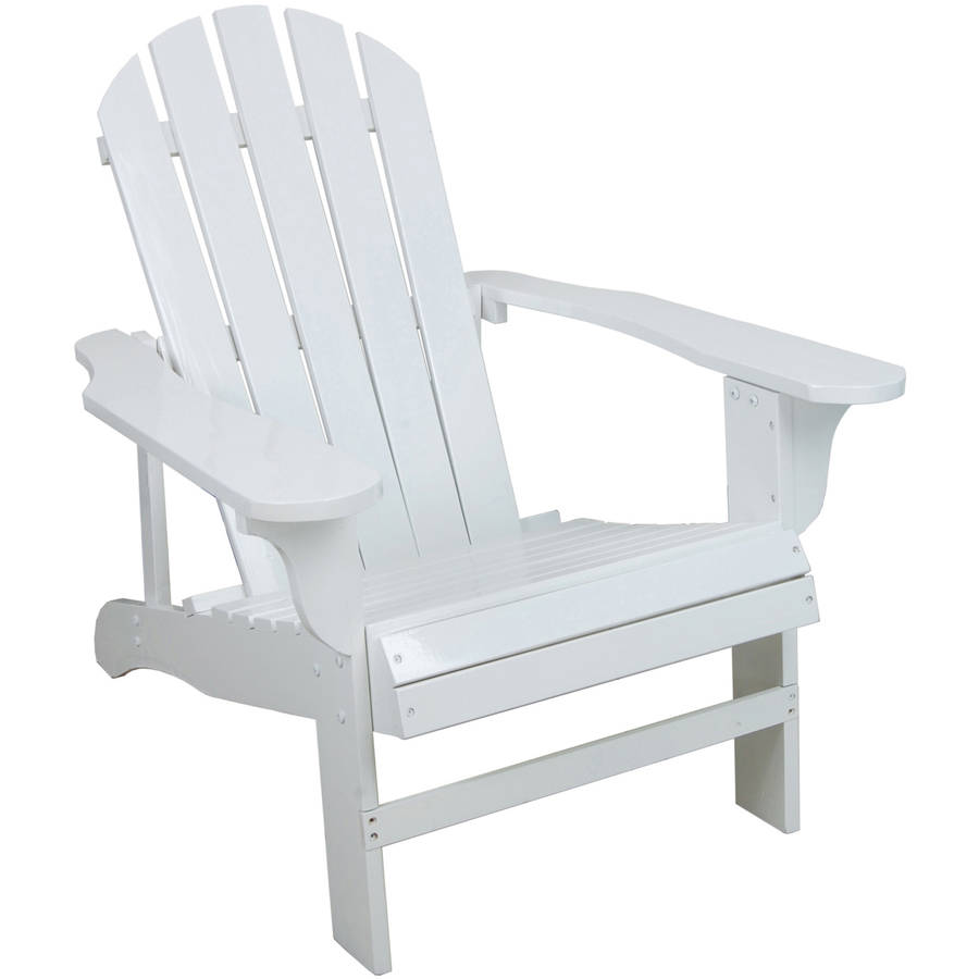 "Lehigh Country TX94052 Adirondack Chair, White, 27.8"" x 35.8"" x 34.4"""