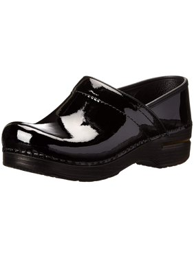 Dansko Womens Professional Leather Closed Toe Clogs, Black Patent, Size 12.0