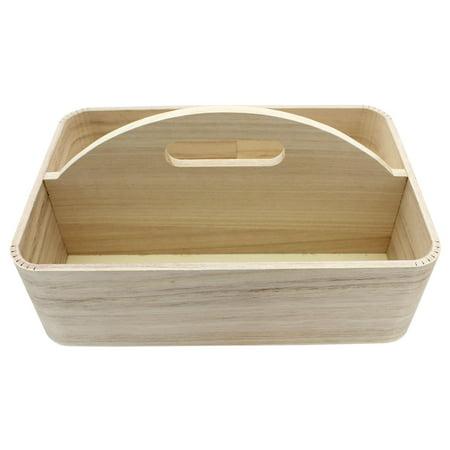 Wood Tray w/Center Handle 11.75x7.75x3.75 Nat ()