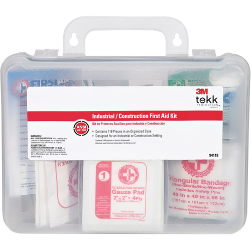 TEKK 94118-80025T 118 Piece Industrial First Aid Kit