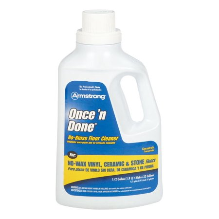 Rinse Filter Cleaner - Once'N Done No Rinse Cleaner 1/2 Gal