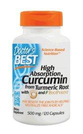 Best Curcumin 500MG with Bioperine Doctors Best 120 Caps