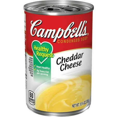 (3 Pack) Campbell's Condensed Healthy Request Cheddar Cheese Soup, 10.75 oz.