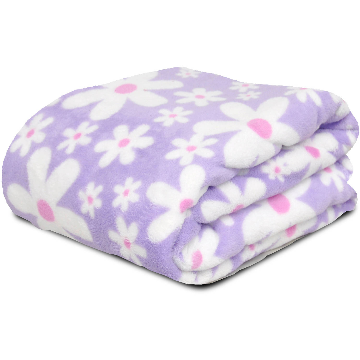 Mainstays Kids Floral Plush Throw