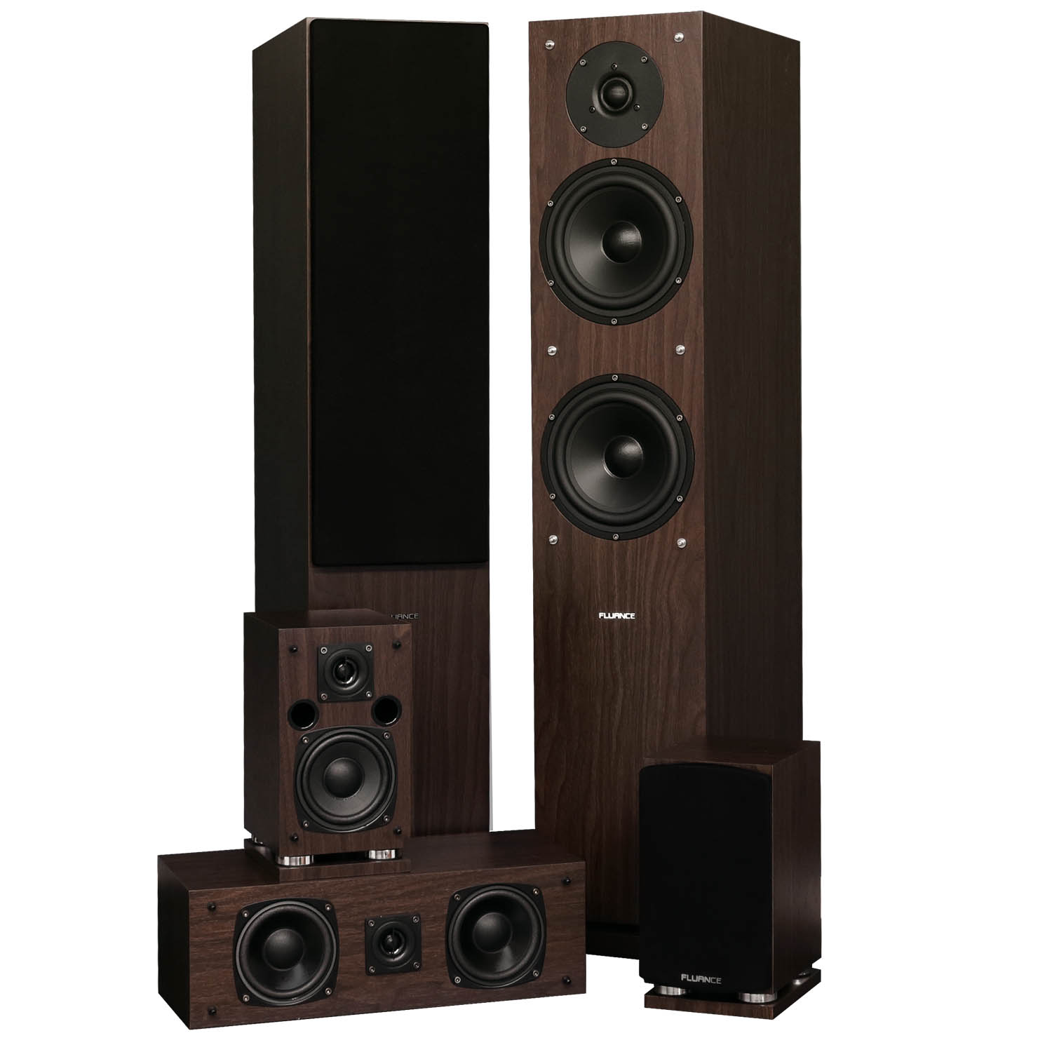Fluance SXHTBW High Definition Surround Sound Home Theater 5.0 Channel Speaker System including Floorstanding... by Fluance