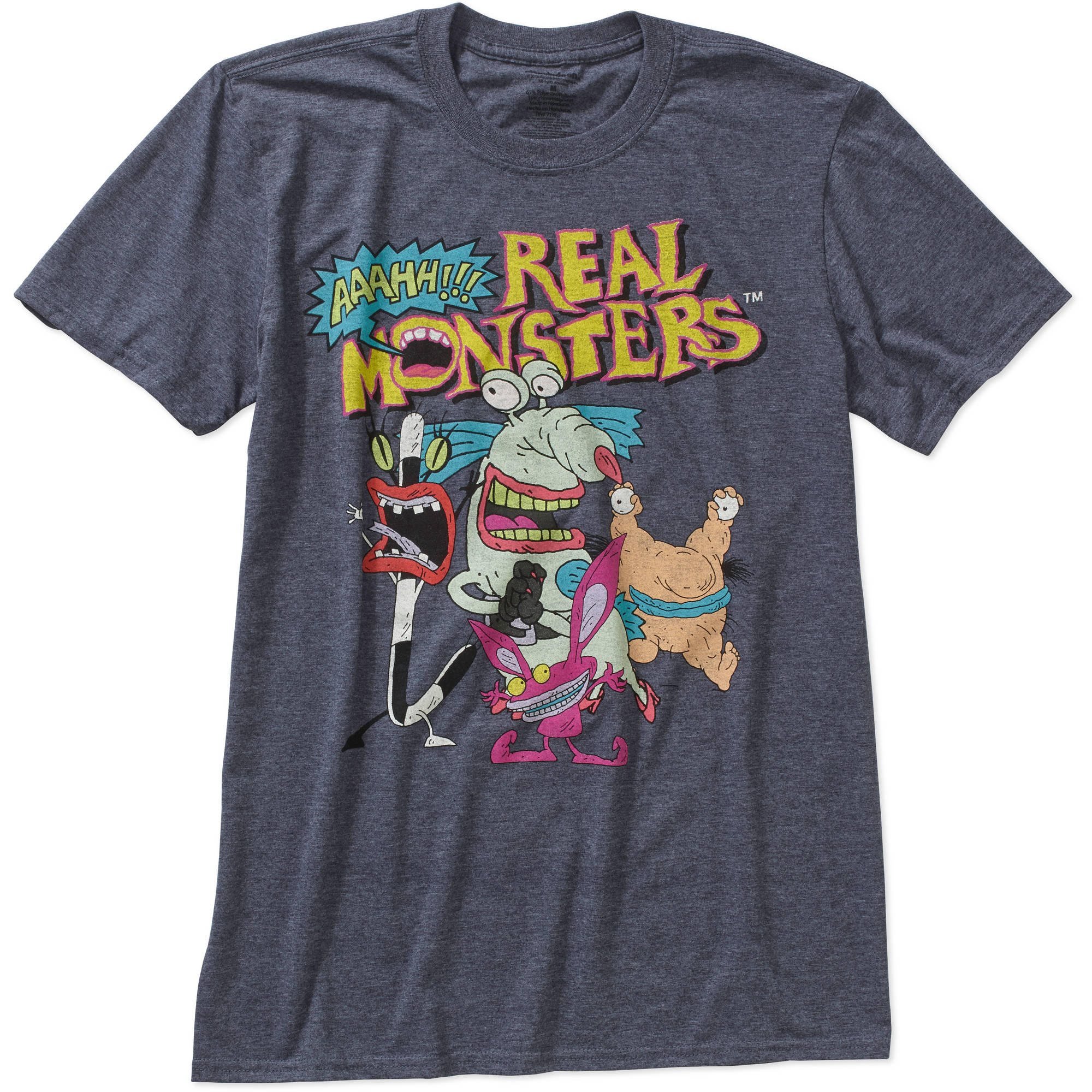 Aaahh!! Real Monsters Big Men's Graphic Tee, 2XL