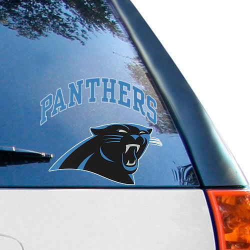 Carolina Panthers 8'' x 8'' Arched Logo Decal