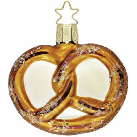 Inge Glas Heirlooms Oktoberfest Pretzel German Glass Christmas Ornament FREE BOX - German Oktoberfest Decorations